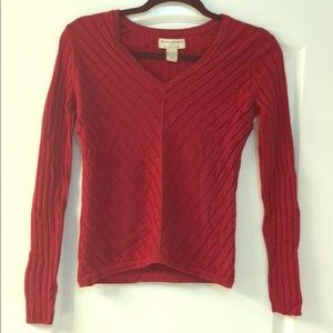 Banana Republic red long sleeve sweater